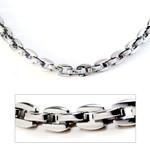 Titanium Men's 5MM Oval Link Chain Necklace