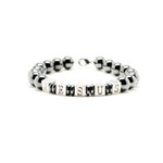 Accents Kingdom Men's JESUS Magnetic Hematite Round Bead Bracelet 8.5""