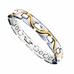 Men's Wave Titanium Magnetic Health Golf Bracelet T17