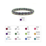 Accents Kingdom Womens Magnetic Hematite Tuchi Pearl Bracelet with Amethyst Crystal 7.5""