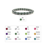 Accents Kingdom Women's Magnetic Hematite Tuchi Pearl Emerald Crystal Bracelet 7.5""