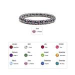 "Accents Kingdom Women's Magnetic Hematite Tuchi Pearl Lt. Amethyst Crystal Bracelet 7.5"""