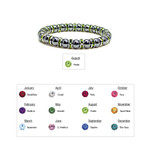 Accents Kingdom Womens Magnetic Hematite Tuchi Pearl Bracelet with Peridot Crystal 7.5""