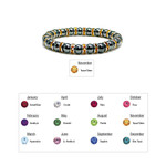 Accents Kingdom Women's Magnetic Hematite Tuchi Pearl Citrine Crystal Bracelet 7.5""