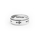 8MM Men's Titanium Celtic Cross Spinner Ring Band