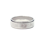 8MM Men's Titanium Bear Track Spinner Ring