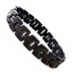 Men's Gun Metal Black Titanium Magnetic Golf Bracelet T21