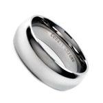 8mm Men's Classic Cobalt Chrome Comfort Fit Dome Wedding Band Ring