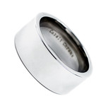10mm Men's Cobalt Chrome Comfort Fit Polish Pipe Cut Wedding Band Ring