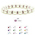 Accents Kingdom Women's Magnetic Hematite White Tuchi Pearl Lt. Amethyst Crystal Bracelet 7.5""