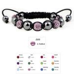 Accents Kingdom Women's Magnetic Hematite Shamballa Style Macrame Lt. Amethyst Crystal Bracelet