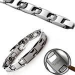 Men's Tungsten Carbide Magnetic Sports Golf Bracelet