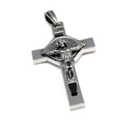 Sivertone St Benedict Crucifix Cross Pendant