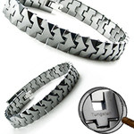 Men's Arrow Tungsten Carbide Link Bracelet