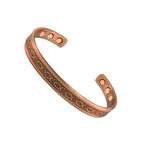 Accents Kingdom Men's Icthus Copper Magnetic Golf Cuff Bracelet