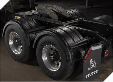 Minimizer 2260 Series Diamond Plate Black Fenders Raney