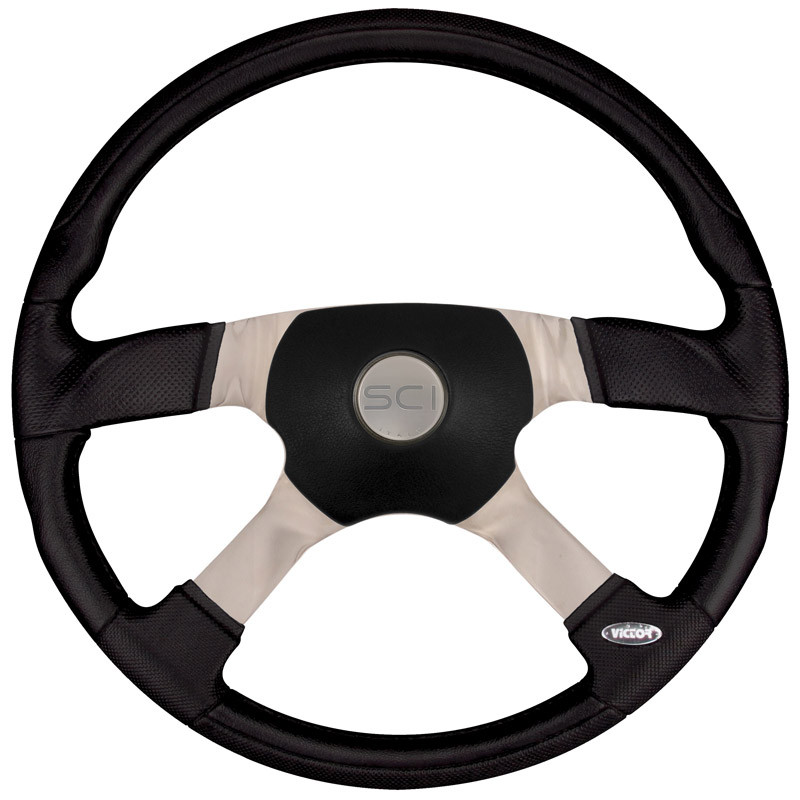 "18"" Trucker 4 Steering Wheel With Black Sport Pad"
