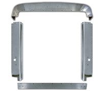 Peterbilt 379 Grill Surround Trim Set Stainless Short Hood