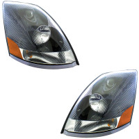 Black Volvo VNL Headlights