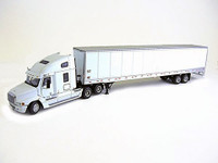 White Freightliner With Wabash Box Trailer 1/50 Scale
