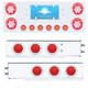 Mudflap Hanger & Rear Center Panel Kit With LED Lights & Red Lens