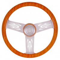 "Flames ""Too Hot"" 18"" Steering Wheel"