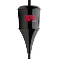 K40 Black Trucker Antenna With Chrome Coil Plus Series