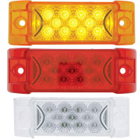 13 LED Rectangular Clearance Marker Light With Reflector - All Styles