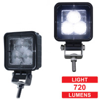 High Power 3 LED Compact Square Flood Work Light