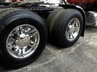 Spyder 225 Series Chrome Rear Axle Wheel Cover On Truck