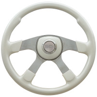 "18"" Comfort White Steering Wheel Universal Pad"