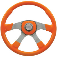 "18"" Comfort Neon Orange Steering Wheel Universal Pad"