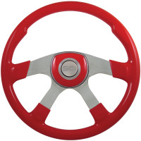 "18"" Comfort Viper Red Steering Wheel Universal Pad"