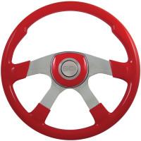 "18"" Comfort Viper Red Steering Wheel Universal Pad"