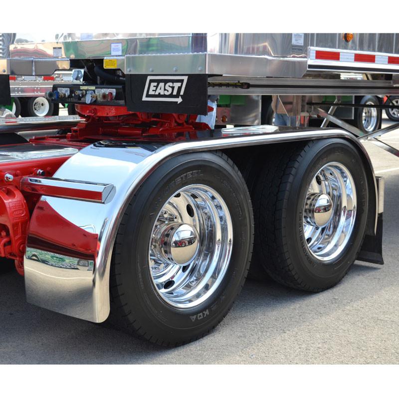Big Truck Fenders Stainless Steel : Hogebuilt premium stainless steel quot full tandem low
