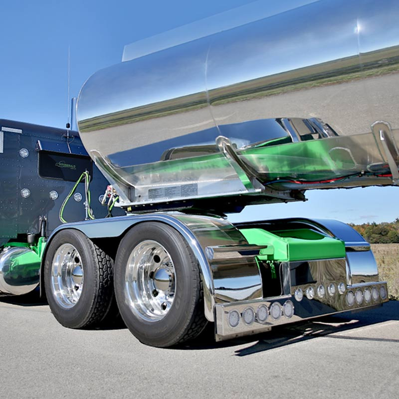 Big Truck Fenders Stainless Steel : Hogebuilt stainless steel quot flanged low rider full