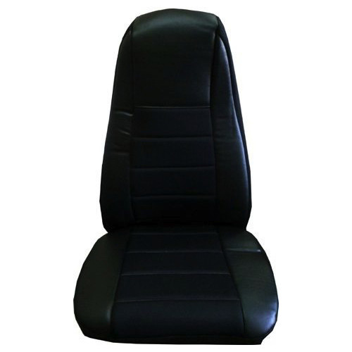 Black Vinyl Seat Cover With Fabric Amp Pocket