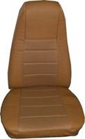 Tan Vinyl Seat Cover With Fabric & Pocket
