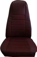 Burgandy Vinyl Seat Cover With Fabric & Pocket