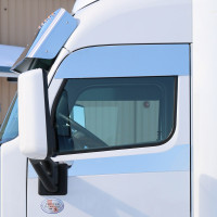 "Peterbilt 579 8"" Polished Chop Top Door Trim"