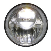 "7"" LED Projection Headlight Lit"