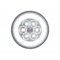"""4"""" Round 21 LED Back Up GLO Light Turned On"""
