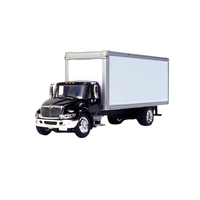 Black International 4300 Box Truck 1/53 Scale
