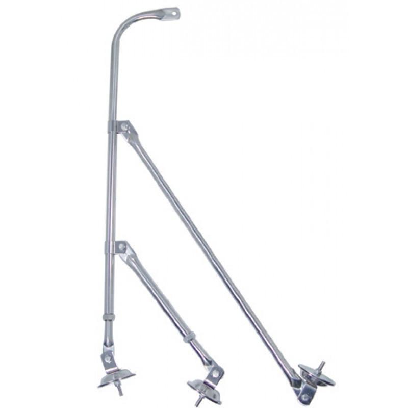 Stainless steel tri pod fender mirror bracket raney 39 s for Mirror brackets