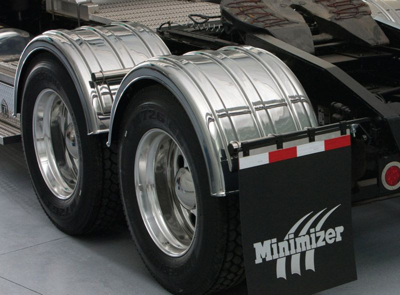 For A Semi Tractor Fenders : Minimizer series chrome poly fenders raney s truck