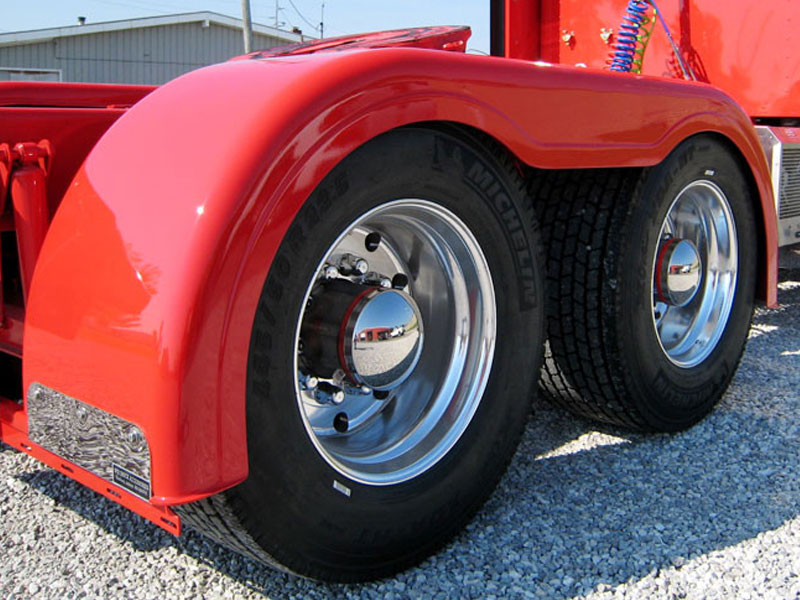 Semi Truck Fiberglass Super Single Full Fender Set With