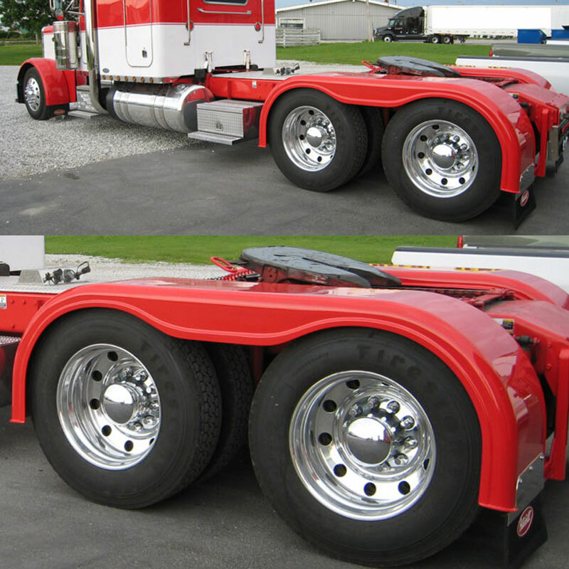 For A Semi Tractor Fenders : Semi truck quot fiberglass full fender set with brackets