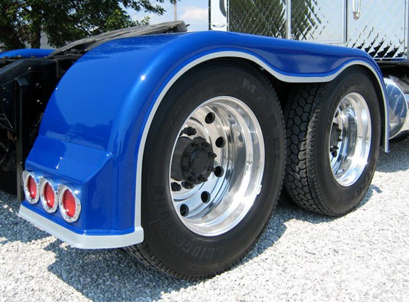 Semi Fender Lights : Semi truck fiberglass full fender set with low light holes
