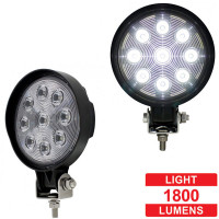 High Power LED Round Work Light Competition Series Slim Profile