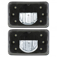 "6"" x 4"" Rectangular High Power LED Crystal Headlight"